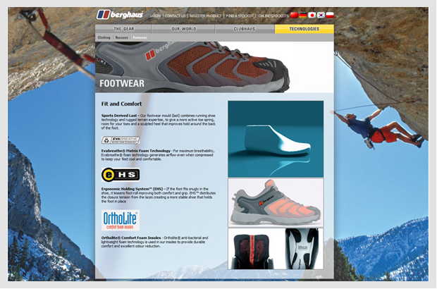 Berghaus Website